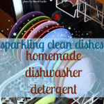 hot water and dishwashing detergent